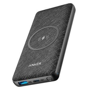Anker PowerCore III Sense 10K Wireless & PD Power Bank Black Fabric