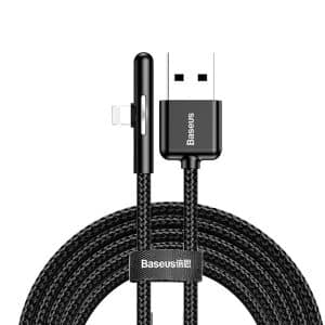 Baseus Iridescent Lamp Mobile Game Cable USB to Lightning with Nylon Braided 1.5A 2m CAL7C-B01 Black