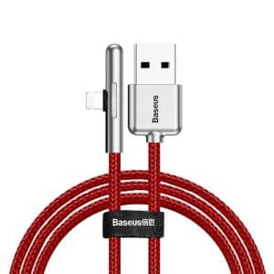Baseus Iridescent Lamp Mobile Game Cable USB to Lightning with Nylon Braided 1.5A 2m CAL7C-B09 Red