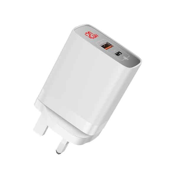Baseus Mirror Lake PPS Digital Display Quick Charger A+C UK CCJMHC-D02 White