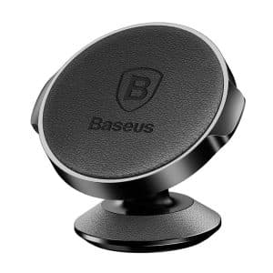 Baseus Small Ears Series Vertical Leather Magnetic Bracket Car Mount Holder for Car Dashboard SUER-F01 Black