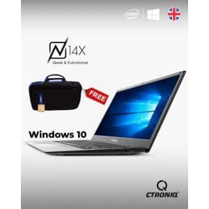 CTRONIQ N14x Notebook PC 14.1-Inch 64G+B4GB - Gray (With Free Laptop BAG)