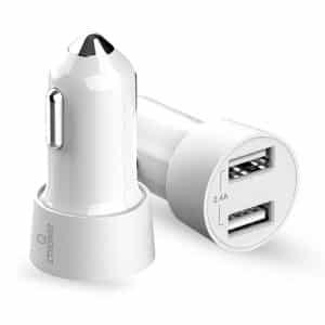 CTRONIQ Vimba CC03 Car Charger Dual USB Port LED Indicator White