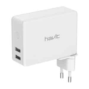 HAVIT H147 3-in-1 4500mAh Power Bank with Wireless Charger & Travel Charger White