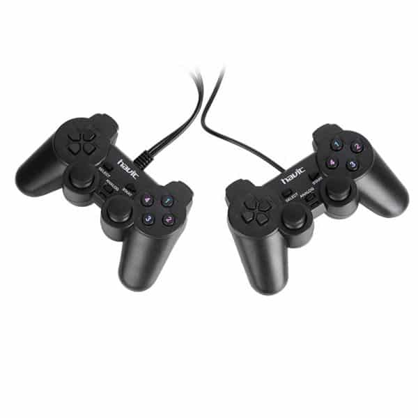 HAVIT HV-G61 USB PC Double Gamepad Joystick Wired Game Controller Black