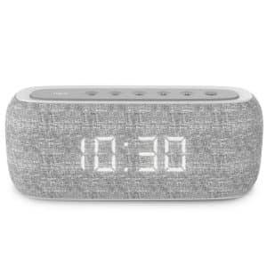 HAVIT HV-M29 Wireless Speaker with Dual Alarm Clocks Gray