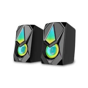 HAVIT HV-SK563 USB 2.0 RGB Light Stereo Computer Speaker Black