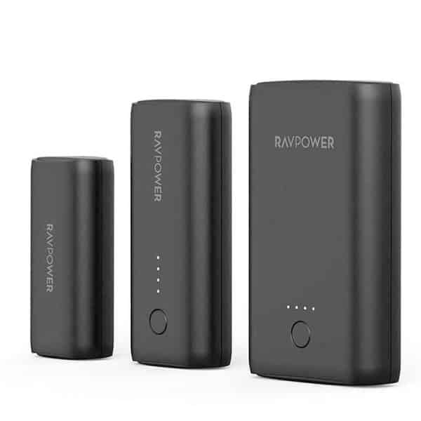 RAVPower Protable Charger Combo 3350mAh / 6700mAh / 10050mAh RP-PB181 Black