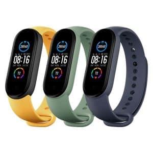 Xiaomi Mi Smart Band 5 Strap (Blue, Yellow, Light Green) - 3-Pack