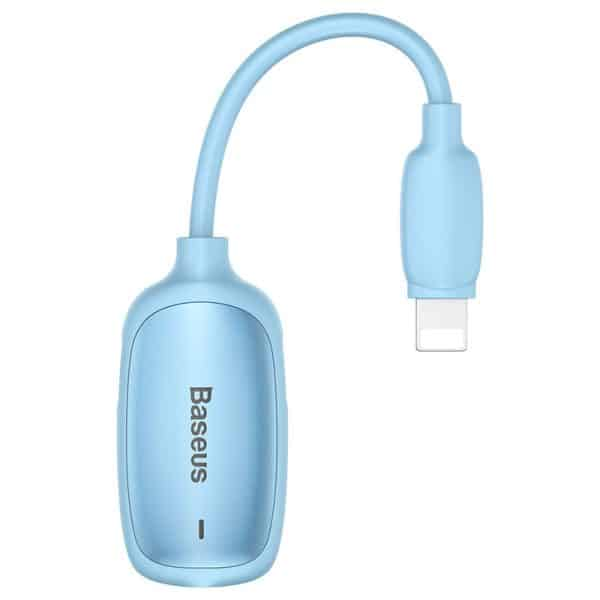Baseus 3-in-1 iP Male to Dual iP & 3.5mm Female Adapter CALL51-03 Blue