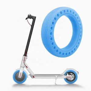 Fluorcent Honeycomb Solid Tire 8.5-Inch for Xiaomi Electric Scooter - Blue