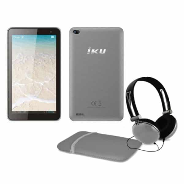 IKU T4 7-Inch Tablet 3G with Headset & Case + Free IP TV Gray