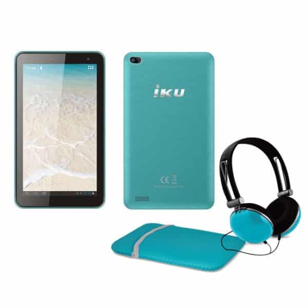 IKU T4 7-Inch Tablet 3G with Headset & Case + Free IP TV Turquoise