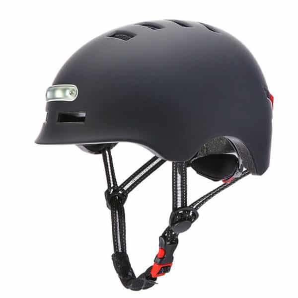 Safety Helmet with LED Warning Light for Xiaomi Electric Scooter Black