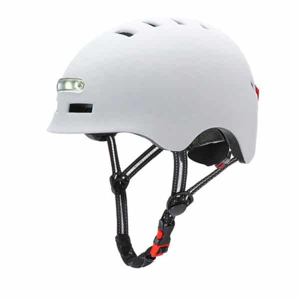 Safety Helmet with LED Warning Light for Xiaomi Electric Scooter White