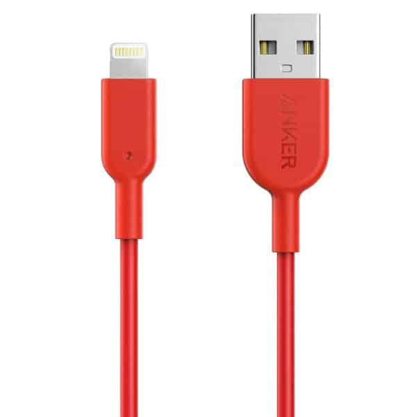 Anker Powerline II Lightning Cable (0.9m/3ft) - Red