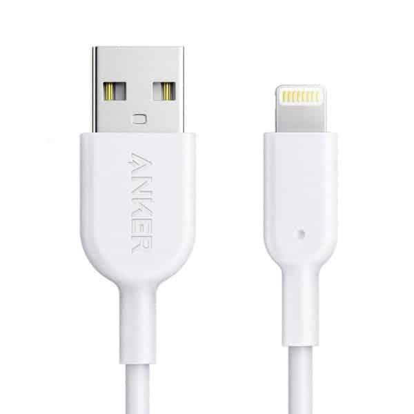 Anker Powerline II Lightning Cable (0.9m/3ft) - White