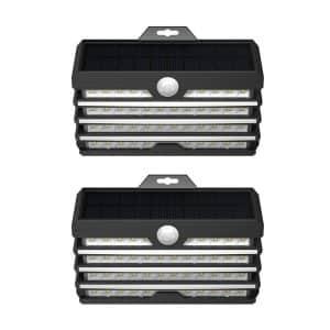 Baseus Energy Collection Series Solar Body Sensor LED Wall Lights DGNEN-D01 2-Pack - Black