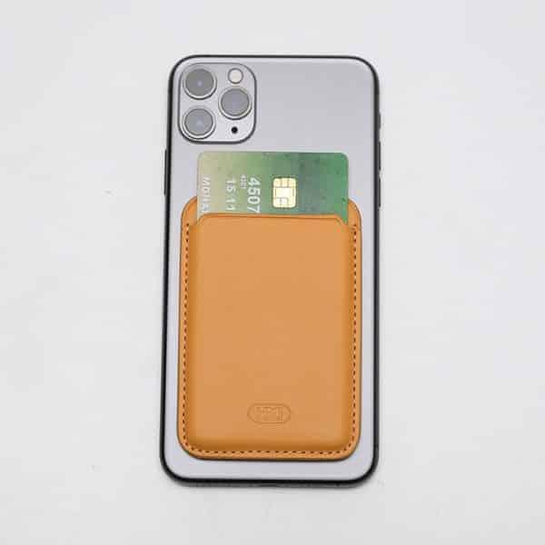 HDD Ultra Slim Snap-On Phone Back Card Holder - Orange