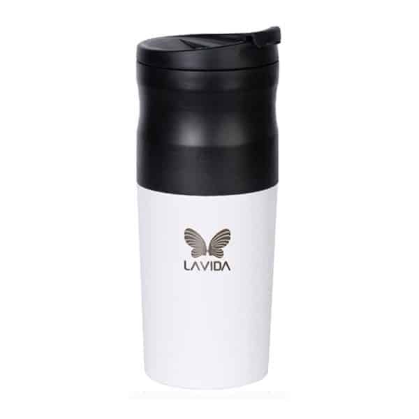 LAVIDA Coffee Grinder Portable Mini Electric Coffee Maker T1 White