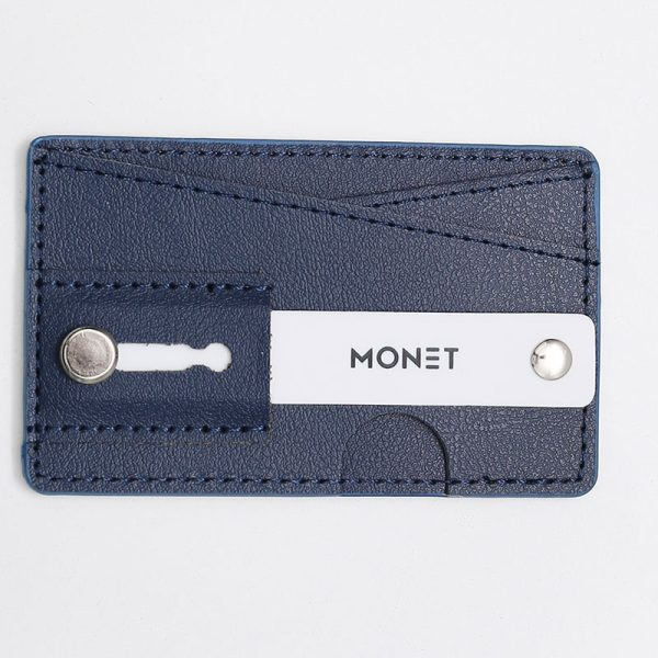 Monet Phone Grip with Expanding Stand and Slim Wallet - Navy Blue