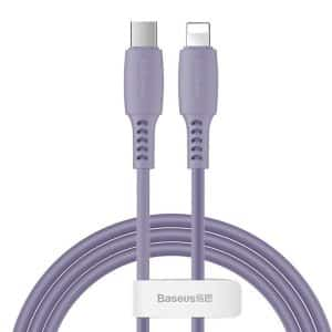Baseus Colourful Cable USB Type-C to Lightning Power Delivery 18W 1.2m CATLDC-05 Violet