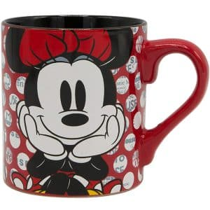 Silver Buffalo MD0132 Disneys Minnie Mouse Rock the Dots Ceramic Mug 14 oz Multicolor