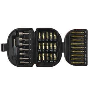 BLACK+DECKER 32 Pieces Screwdriver & Socket Bit Set in Kitbox A7094