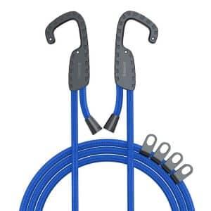 Baseus Multi-purpose Elastic Clothesline Vehicle-mounted Hanger Adjustable Outdoor Travel Hanging Rope ACTLS-03 Blue