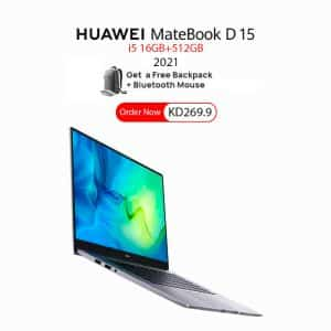 HUAWEI MateBook D 15 i5 16GB+512GB with FREE Gifts - Space Gray