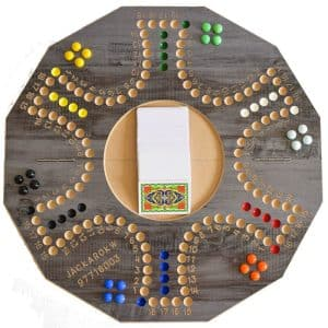 Jackaroo Board Game 6 Players with Foldable Circle Shape and Numbers Dark Gray