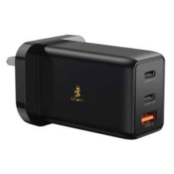 Smart Premium 65W GaN Power Adapter - Black