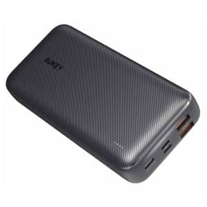 AUKEY Basix Plus 20000mAh 3-Port Power Bank with 18W PD and QC 3.0 PB-N74S Black
