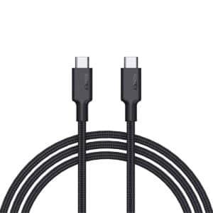 AUKEY Impulse Braided PD 60W USB 3.1 Gen 1 USB-C Cable 2m/6.6ft CB-CD20 - Black