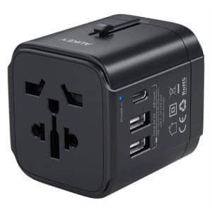 AUKEY PA-TA01 Universal Travel Adapter with USB-C and USB-A Ports Black