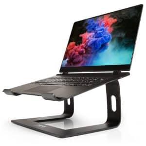 PORT Connect Ergonomic Aluminium Notebook Stand Black