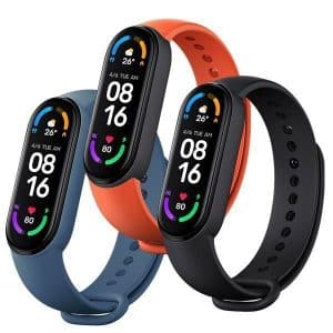 Xiaomi Mi Smart Band 6 Strap (3 Pack) - Black/Orange/Blue