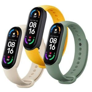 Xiaomi Mi Smart Band 6 Strap (3 Pack) Ivory Olive Yellow