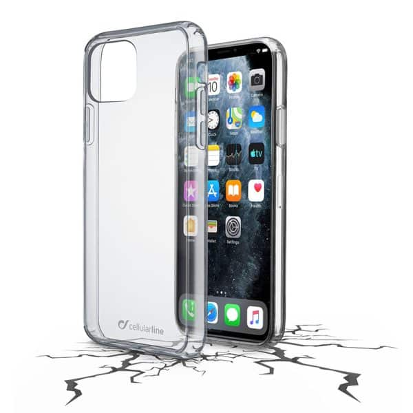 Cellularline Clear Duo Hard Rubber Case for iPhone 11 Pro Max Transparent