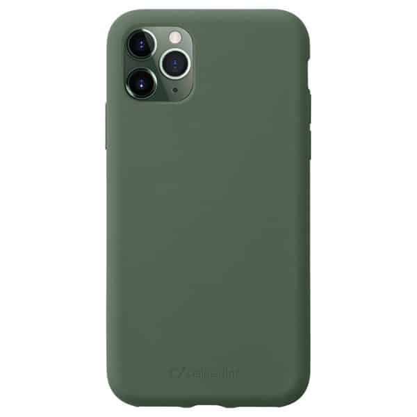 Cellularline Protect Sensation Soft-Touch Silicone Case for iPhone 11 Pro - Green