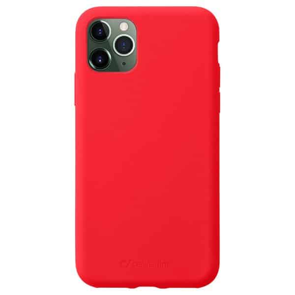 Cellularline Protect Sensation Soft-Touch Silicone Case for iPhone 11 Pro - Red