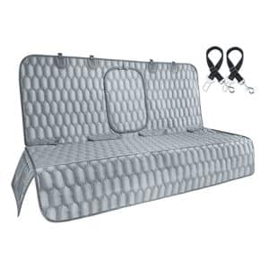 IOKMEE Car Bench Seat Cover Gray