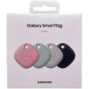 Samsung Galaxy SmartTag Bluetooth Tracker 4-Pack Multi Colors