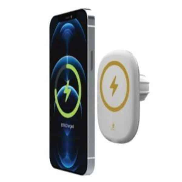 Smart MagFreedom Magnetic Wireless Car Charger 15W - White