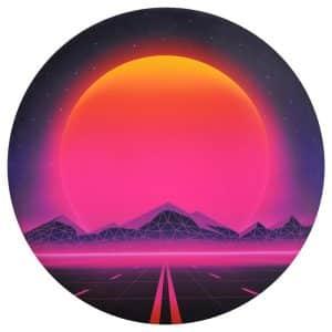 Waboba Wingman Foldable Silicone Flying Disc 80s Sunset