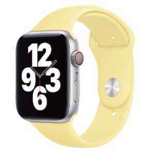 WiWU Soft Silicon Sport Band Watchband for iWatch 42-44mm Yellow