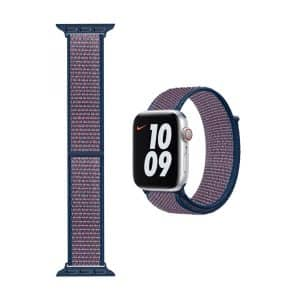 WiWU Sport Loop Nylon Watchband for iWatch 42-44mm Blue